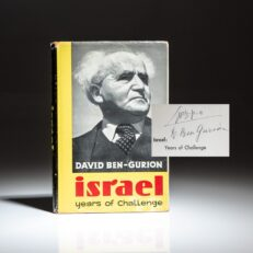Signed first edition of Israel: Years of Challenge by David Ben-Gurion.