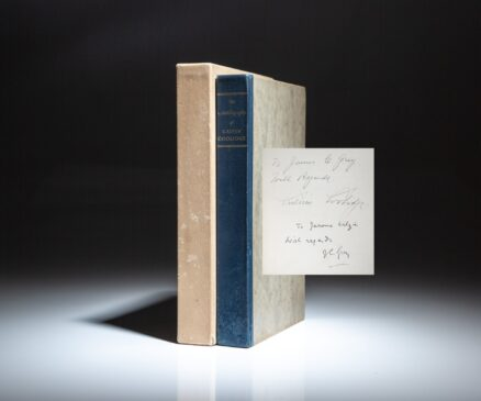 Limited edition of The Autobiography of Calvin Coolidge, signed twice by President Calvin Coolidge.