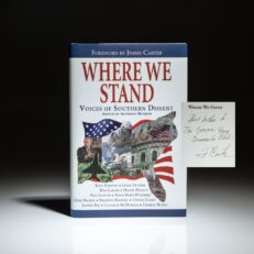 First edition of Where We Stand: Voices of Southern Dissent, inscribed by former President Jimmy Carter.