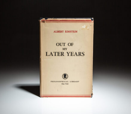 First edition of Albert Einstein's Out Of My Later Years.