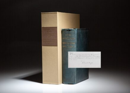 Letter from President Rutherford B. Hayes to a student, recommending this book for his study of the contested election of 1876. The letter was found neatly folded inside this reference book.