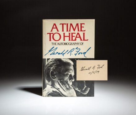 Signed first edition of A Time To Heal by President Gerald R. Ford.