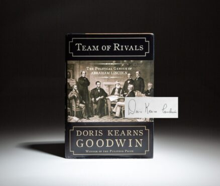 Signed copy of Team of Rivals by Doris Kearns Goodwin.