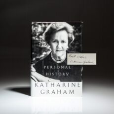 Signed first edition, first printing of Personal History by Katharine Graham.