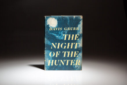 First edition of The Night Of The Hunter, in first state dust jacket, by Davis Grubb.