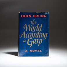 First edition of The World According to Garp by John Irving, with laid-in signature from the author.