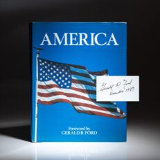 First edition of America by Marvin Karp, signed by former President Gerald R. Ford.