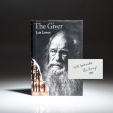 Signed first printing of The Giver by Lois Lowry.