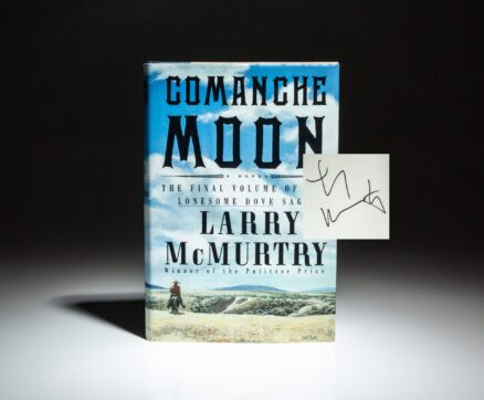 Signed first edition of Comanche Moon by Larry McMurtry.
