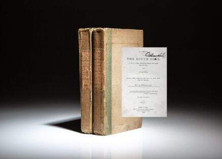 First edition of Chaplain C.S. Stewart's A Visit to the South Seas, in the U.S. Ship Vincennes, the first U.S. Naval vessel to circumnavigate the globe.