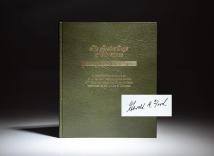 Limited edition of The Twelve Days of Christmas, published by the Postmaster of Christmas Island, for President Gerald R. Ford.