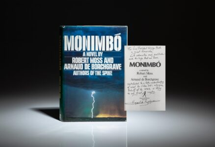 From the personal library of President George H.W. Bush in Kennebunkport, Maine, Monimbo, a novel by Robert Moss and Arnaud de Borchgrave.
