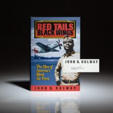 First edition of Red Tails, Black Wings by John B. Holway, signed by Tuskegee Airman, Walter Palmer.