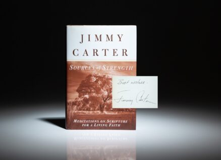 First edition of Sources of Strength, signed by President Jimmy Carter.