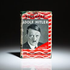 """Early English translation of Mein Kampf, this is the """"Cheap Edition"""" of My Struggle, published by The Paternoster Library."""
