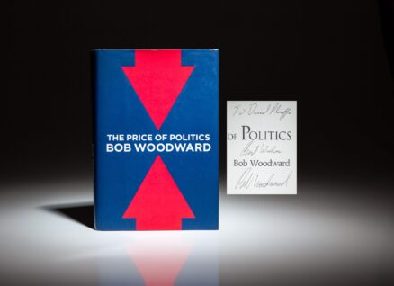 Inscribed to Barack Obama's Campaign Manager and Senior Advisor, David Plouffe, The Price of Politics by Bob Woodward.