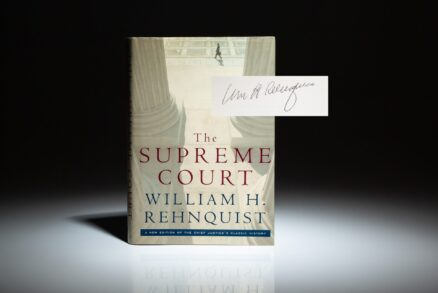 Signed copy of The Supreme Court: New Edition by Chief Justice William H. Rehnquist.