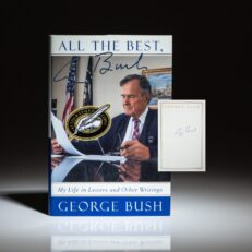 First edition of All The Best, George Bush, signed by President Bush on a bookplate.
