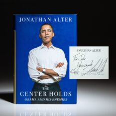Signed first edition of The Center Holds: Obama and His Enemies by Jonathan Alter.