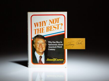 First edition of Why Not The Best, signed by President Jimmy Carter.