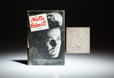 A scarce first printing of Mister Roberts: A Play, signed by the authors, Thomas Heggen and Joshua Logan.
