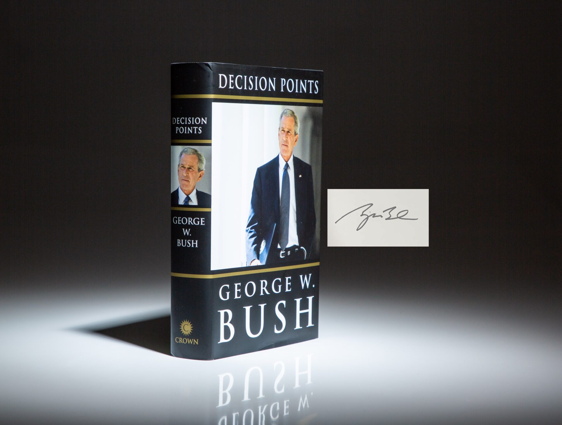 Signed first edition, first printing of Decision Points by President George W. Bush.
