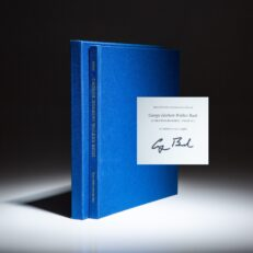 Signed limited edition of A Photographic Profile by White House photographer, David Valdez. Signed by President George H.W. Bush.