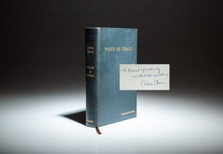 Signed Presentation Edition of Voices of Israel by Abba Eban.
