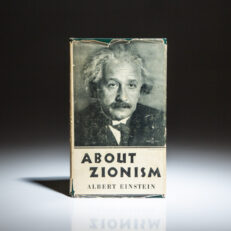 First American edition of About Zionism: Speeches and Letters by Professor Albert Einstein, in scarce dust jacket.