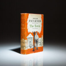 First printing of The Town by William Faulkner, in first state dust jacket.