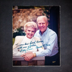 Signed photograph of President Gerald R. Ford and Betty Ford, inscribed to Bonnie Swearingen.