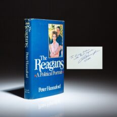 First edition of The Reagans: A Political Portrait, inscribed by the author to Vice Presidential Chief of Staff, Craig L. Fuller.