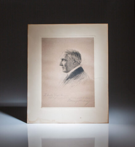Signed portrait of President Warren G. Harding, inscribed to Senator Ralph H. Cameron of Arizona.