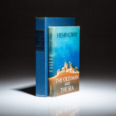 First edition, first printing of The Old Man and the Sea by Ernest Hemingway.