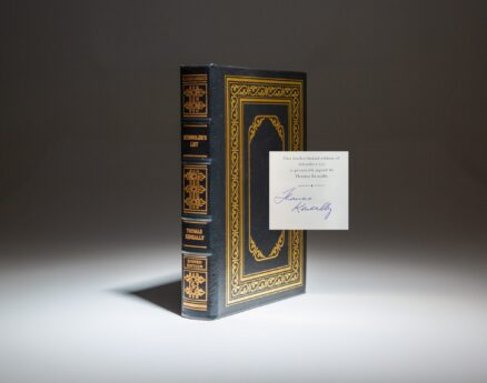 Signed collector's edition of Schindler's List by Thomas Keneally, from the Easton Press.