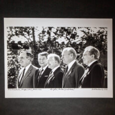 Five Presidents at the Reagan Library Dedication, from famed presidential photographer, David Hume Kennerly.