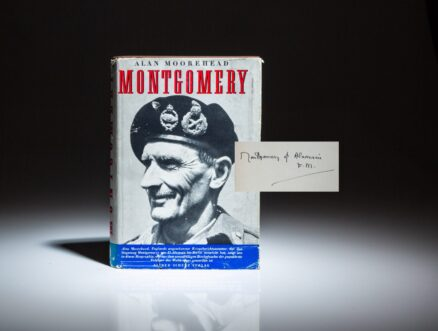 First German edition of Montgomery by Alan Moorehead, signed by Field Marshall Montgomery.