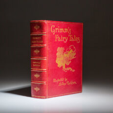 First edition of Grimm's Fairy Tales, published in 1909, illustrated by Arthur Rackham.