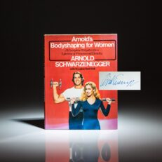 Signed first edition of Bodyshaping for Women by Arnold Schwarzenegger.