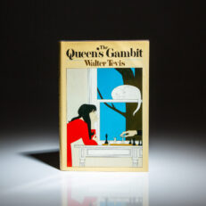 First edition of The Queen's Gambit by Walter Tevis.
