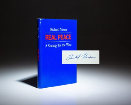 Signed first edition of Real Peace by President Richard Nixon.