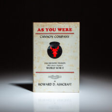 Signed first edition of As You Were: Cannon Company, by Howard D. Ashcraft.
