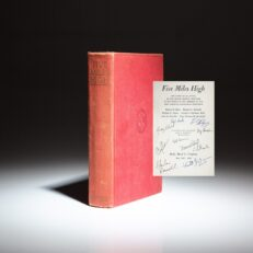 First edition of Five Miles High: The Story of an Attack on the Second Highest Mountain in the World, signed by members of the 1953 and 1978 K2 expeditions.