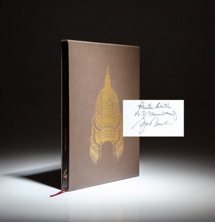 Signed limited edition of The Capitol of Texas: A Legend Is Reborn, with signatures of former Texas Governors, including George W. Bush.