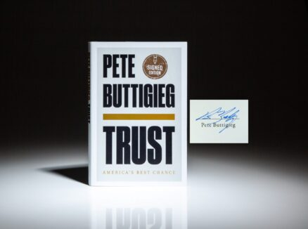 First edition of Trust: America's Best Chance, signed by Pete Buttigieg.