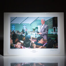 Limited edition print of Hospitality: Sunday School with President Jimmy Carter, signed by the artist and President Carter.