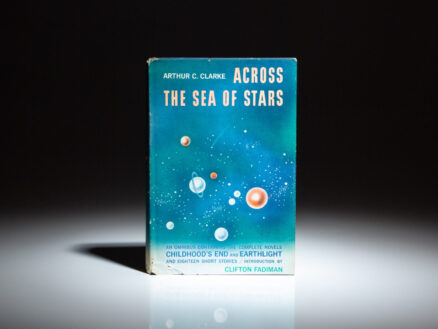 Signed copy of Across the Sea of Stars by Arthur C. Clarke, from the private collection of science fiction writer, D. Douglas Fratz.