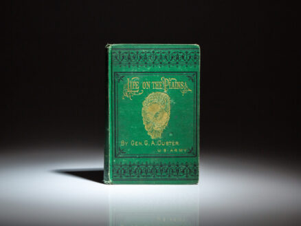 First edition of the memoirs of General George A. Custer, My Life On The Plains, published in 1874.