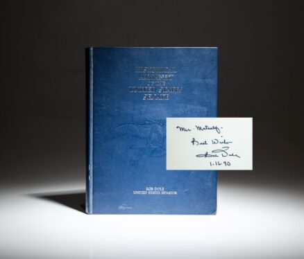 Signed first edition of Historical Almanac of the United States Senate by Senator Bob Dole.