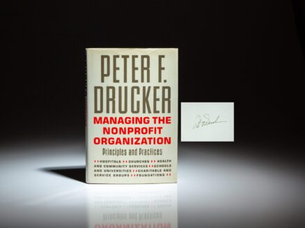 Signed first edition of Managing The Non-Profit Organization by Peter F. Drucker.